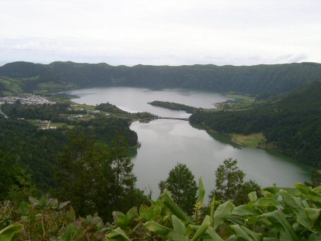 Lagoa Azul and Lagoa Verde at Sete Cidades